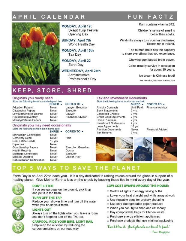 APRIL Newsletter 2013 BACK
