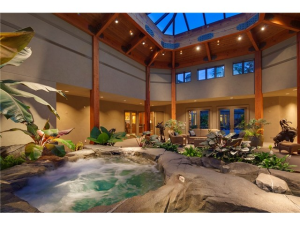 indoor rain forest spa pavilion