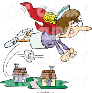 vector-clip-art-of-a-cartoon-super-nurse-flying-over-houses-by-ron-leishman-719