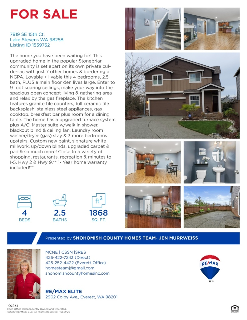 NEW LISTING IN LAKE STEVENS!